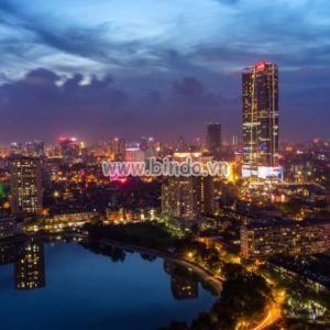 Tranh cảnh thành phố Hà Nội