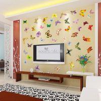 Decal dán tường Bướm sắc màu