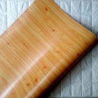 Decal dán tường Decal cuộn vân gỗ vàng