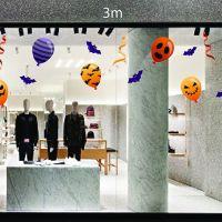 Decal dán tường Trang trí Halloween bong bóng và dơi