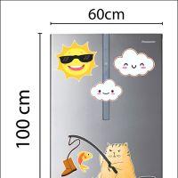 Decal dán tường Decal trang trí tủ lạnh số 18