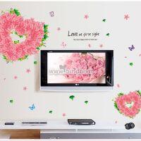 Decal dán tường Trái tim hoa hồng nhỏ