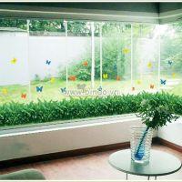 Decal dán tường Chân tường cỏ xanh 2