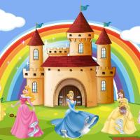 Tranh dán tường 5 nàng công chúa