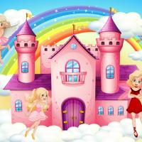 Tranh dán tường lâu đài tiên bướm