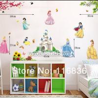Decal dán tường 7 nàng công chúa