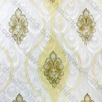 Decal dán tường decal cuộn hoạ tiết vàng