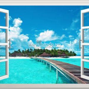Tranh cửa sổ biển 3