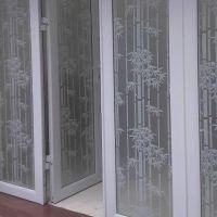 Decal dán tường dán kính trúc trắng