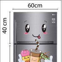 Decal dán tường Decal trang trí tủ lạnh số 11