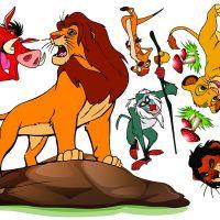 Decal dán tường Decal vua sư tử (Lion King)
