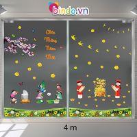 Decal dán tường Trang trí Tết Xuân Combo Số 7
