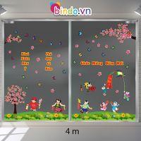 Decal dán tường Trang trí Tết Xuân Combo Số 8