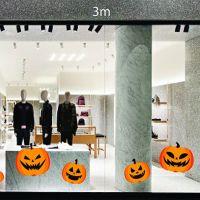 Decal dán tường Trang trí Halloween bí ngô