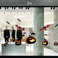 Decal dán tường Trang trí Halloween bí ngô vá dơi