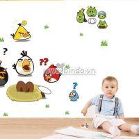 Decal dán tường Angry Birds 1