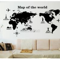 Decal dán tường Bản đồ thế giới