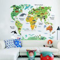 Decal dán tường Bản đồ vườn thú