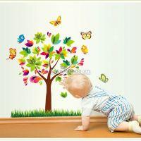 Decal dán tường Cây mùa xuân 2D size nhỏ