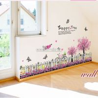 Chân tường hoa cây tím