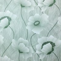 Decal dán tường decal dán tường hoa xanh 3D