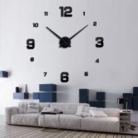 Decal dán tường Đồng hồ chữ số khổ lớn màu đen