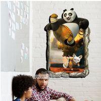 Decal dán tường Gấu Panda 3D