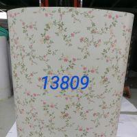 Decal dán tường giấy cuộn hoa hồng tím