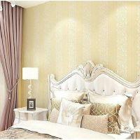 Decal dán tường Giấy dán tường 3d hoa văn và sọc dây vàng