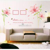 Decal dán tường Hoa ly hồng 2