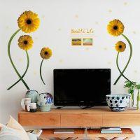 Decal dán tường Hoa cúc vàng