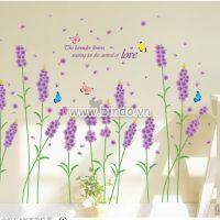 Decal dán tường Hoa lavender 3