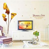 Decal dán tường Hoa ly vàng