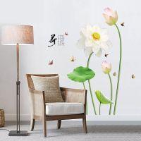 Decal dán tường Hoa sen trắng