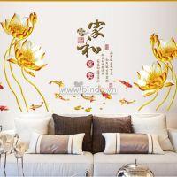 Decal dán tường Hoa sen vàng 2