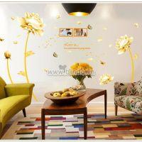 Decal dán tường Hoa sen vàng