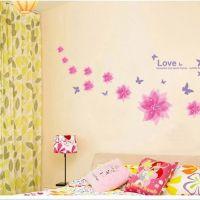 Decal dán tường Họa tiết hoa hồng 2