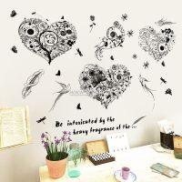 Decal dán tường Hoa trái tim