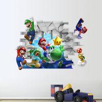 Decal dán tường Mario 3D