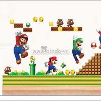 Decal dán tường Mario 5