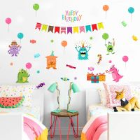 Decal dán tường Muôn thú mừng sinh nhật