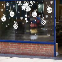 Decal dán tường Noel 88 -Dây treo quả châu và chuông trắng