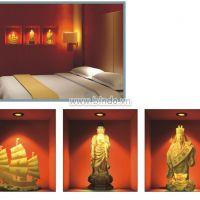 Decal dán tường Phật pháp từ bi 3D