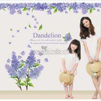 Decal dán tường Giàn Hoa lavender