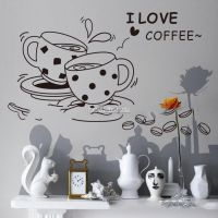 Decal dán tường Tách cà phê
