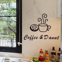 Decal dán tường Tách cà phê 6
