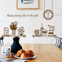 Decal dán tường Tách trà cà phê