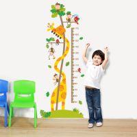 Decal dán tường Thước đo Hươu Khỉ