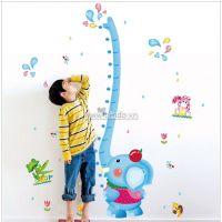 Decal dán tường Thước đo bé voi xanh