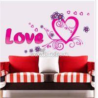 Decal dán tường Trái tim tình yêu